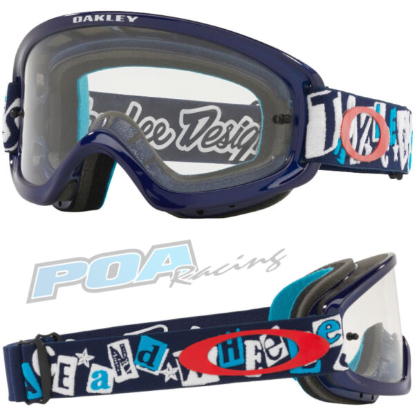 Oakley XS O Frame 2.0 PRO YOUTH Goggle TLD Anarchy Blue - Clear Lens - 0OO7116 711615 030AC
