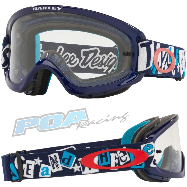Oakley xs o frame 2. 0 pro youth goggle tld anarchy blue - clear lens - 0oo7116 711615 030ac