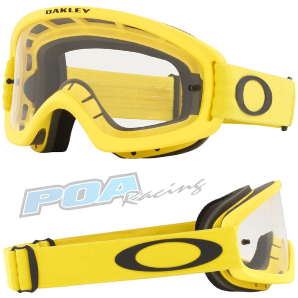 Oakley XS O Frame 2.0 PRO YOUTH Goggle Moto Yellow - Clear Lens - 0OO7116 711617 030AC