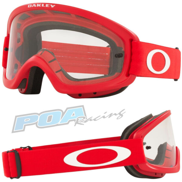 Oakley XS O Frame 2.0 PRO YOUTH Goggle Moto Red - Clear Lens - 0OO7116 711618 030AC