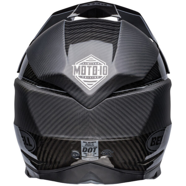 Bell Moto 10 Spherical MIPS Limited Edition Helmet Black/Silver - bell moto 10 spherical le dirt helmet rhythm matte gloss black silver back 1