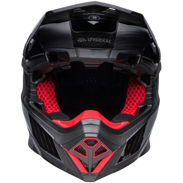 Bell Moto 10 Spherical MIPS Limited Edition Helmet Black/Silver - bell moto 10 spherical le dirt helmet rhythm matte gloss black silver front 1
