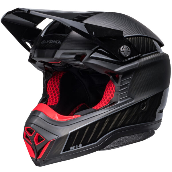 Bell Moto 10 Spherical MIPS Limited Edition Helmet Black/Silver - bell moto 10 spherical le dirt helmet rhythm matte gloss black silver front left 1