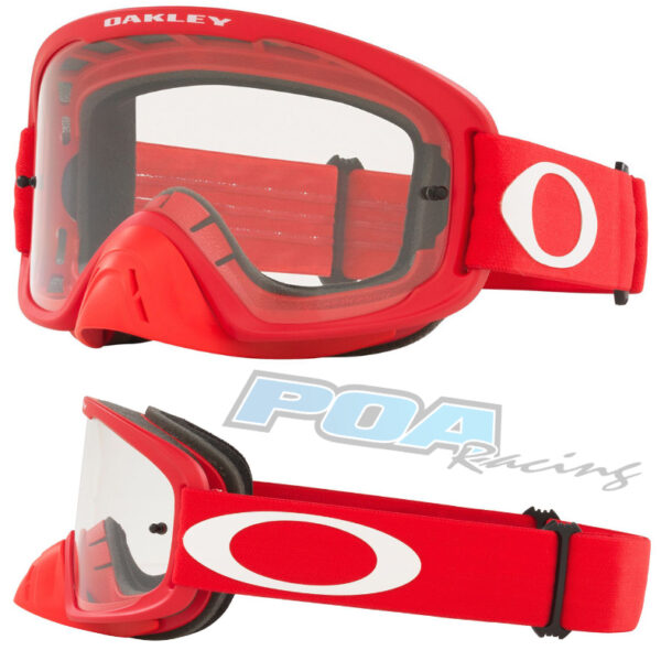 Oakley O Frame 2.0 PRO MX Goggle Moto Red - Clear Lens - 0OO7115 711534 030AC