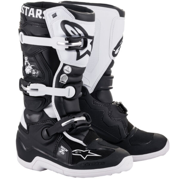Alpinestars Tech 7s YOUTH Boots LE DIALED Black/White - 2015017 121 fr le tech 7s dialed boot