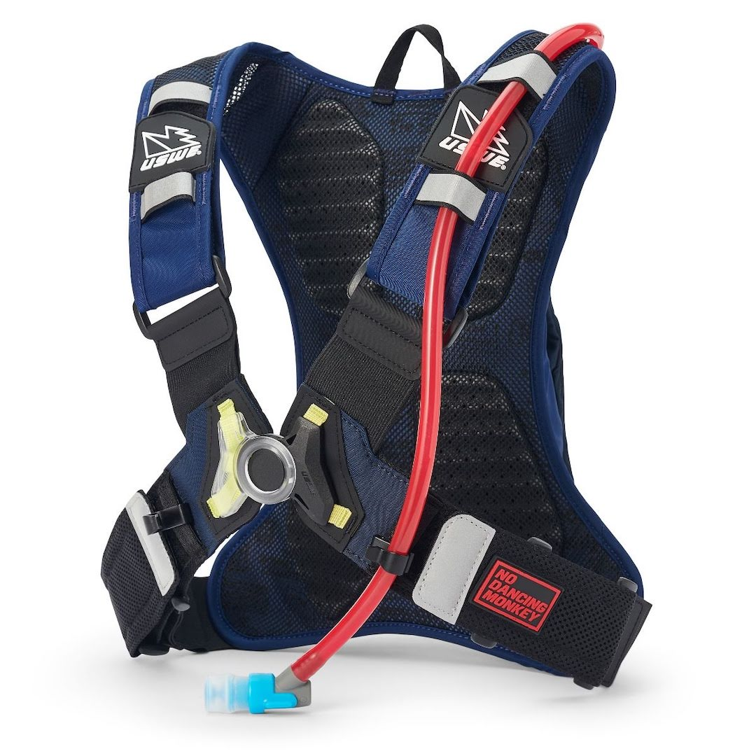 Uswe raw 3 hydration backpack factory blue - with 2 litre bladder - blue 2