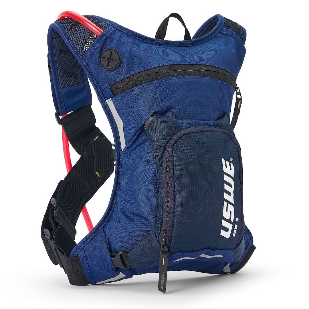 Uswe raw 3 hydration backpack factory blue - with 2 litre bladder - blue