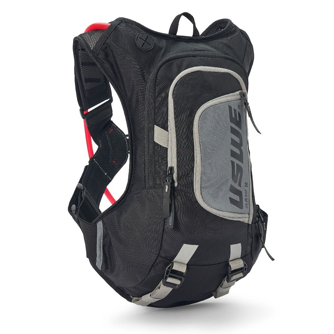 Uswe raw 12 hydration backpack carbon black - with 3 litre bladder - black 1