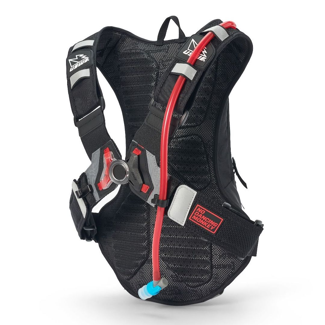 Uswe raw 12 hydration backpack carbon black - with 3 litre bladder - black 2 1