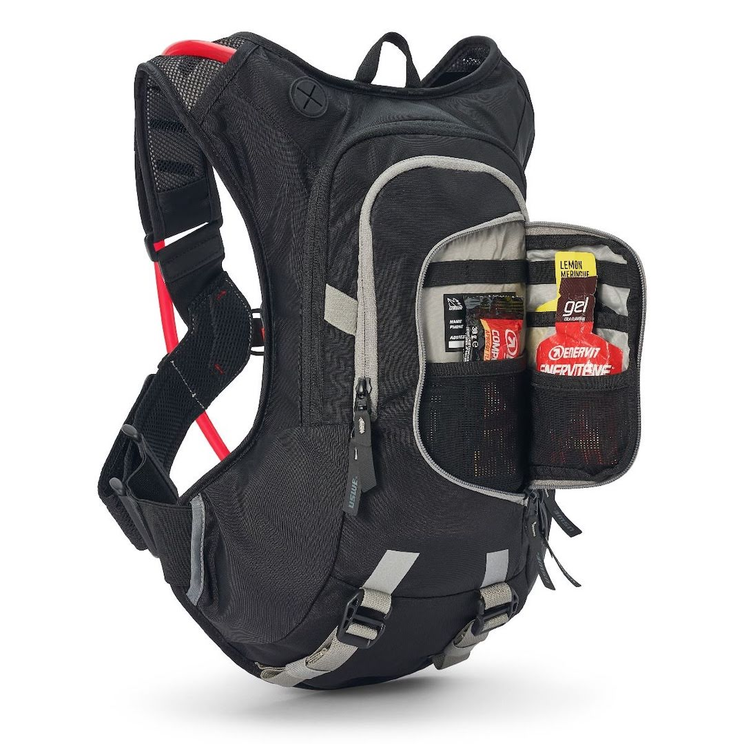 Uswe raw 12 hydration backpack carbon black - with 3 litre bladder - black 3 1