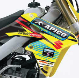 Apico Suzuki Team Graphics Kit Complete