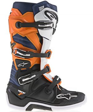 2017 Alpinestars Tech 7 Boot Black/Orange/White/Blue
