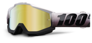 100% Accuri Goggle Invaders – Gold Mirror + Clear Lens
