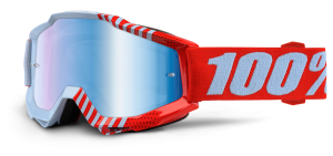 100% Accuri Goggle Cupcoy – Blue Mirror + Clear Lens