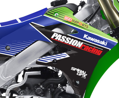 2014 Passion Racing Kawasaki Team Graphics Kit Complete