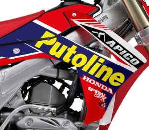 2014 Putoline Apico Honda Team Graphics Kit Complete