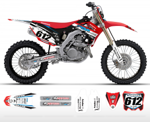 POA Racing Honda Team Graphics Kit Complete