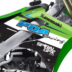 POA Racing Kawasaki Team Graphics Kit Complete