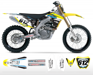 POA Racing Suzuki Team Graphics Kit Complete
