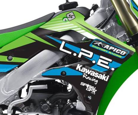 2014 LPE Kawasaki Team Graphics Kit Complete