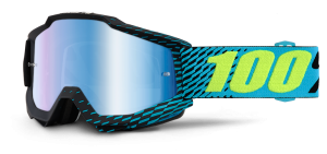 100% Accuri Goggle R-Core – Blue Mirror + Clear Lens
