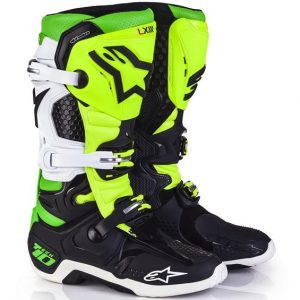 2017 Alpinestars Tech 10 LE Vegas Boot Black/White/Green Flo Yellow