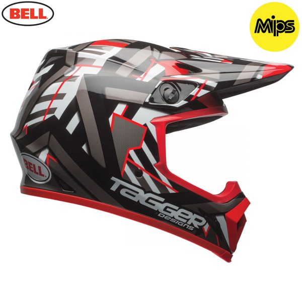 2017 Bell MX-9 Mips Helmet Tagger Double Trouble Black/Red