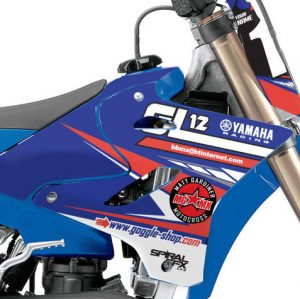 GL12 Yamaha Racing Team Graphics Kit Complete With Custom Backgrounds