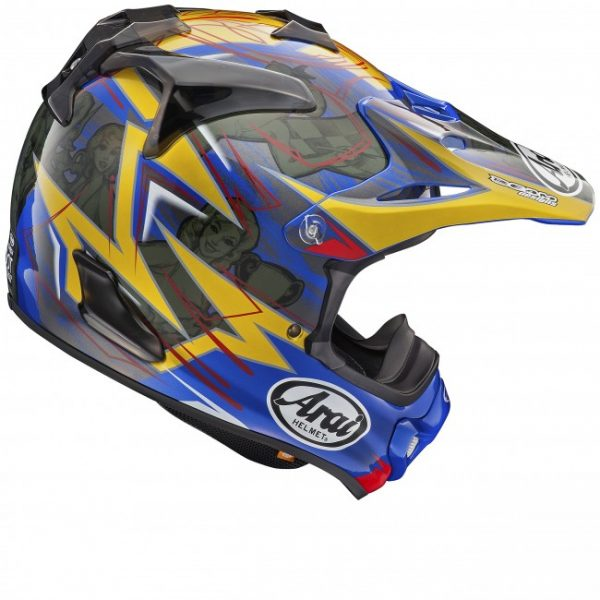 2017 Arai MX-V Broc Tickle Helmet Blue