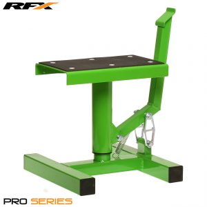 RFX Pro Single Pillar Lift Up Bike Stand Green