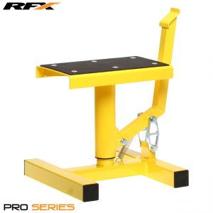 RFX Pro Single Pillar Lift Up Bike Stand Yellow