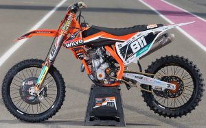 2016 Wilvo Virus KTM Team Graphics Kit Complete With Custom Backgrounds