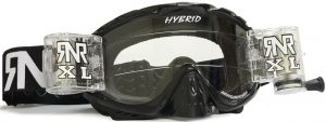 Rip N Roll Hybrid XL Fully Loaded Roll Off Goggle Black