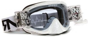 Rip N Roll Hybrid XL Fully Loaded Roll Off Goggle White