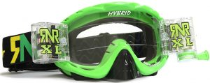 Rip N Roll Hybrid XL Fully Loaded Roll Off Goggle Lime Green