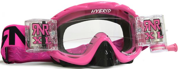 Rip N Roll Hybrid XL Fully Loaded Roll Off Goggle Pink