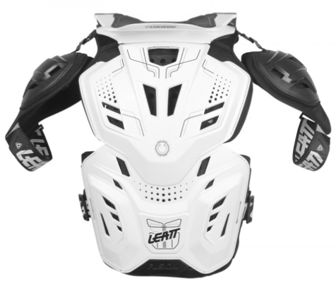 2017 Leatt Fusion 3.0 Adult Neck Brace & Body Protector White