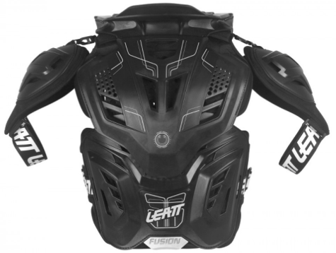 2017 Leatt Fusion 3.0 Adult Neck Brace & Body Protector Black