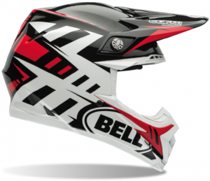 Bell Moto-9 Carbon Flex Helmet Syndrome Red