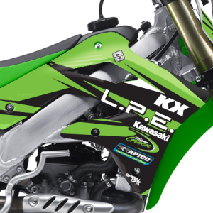 2015 LPE Kawasaki Team Graphics Kit Complete