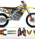 Geartec Suzuki Team Graphics Kit Complete With Custom Backgrounds
