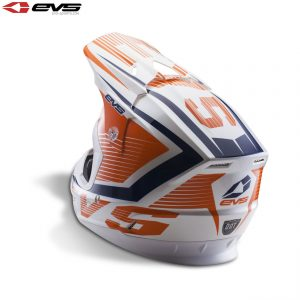 EVS T5 Vector Adult Helmet Orange/Blue