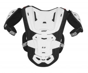 2017 Leatt 5.5 Pro Youth Chest Protector White