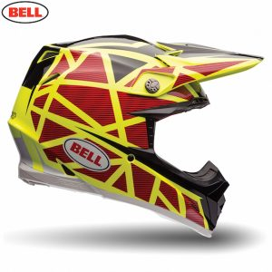 2017 Bell Moto-9 Carbon Flex Helmet Strapped Yellow/Red