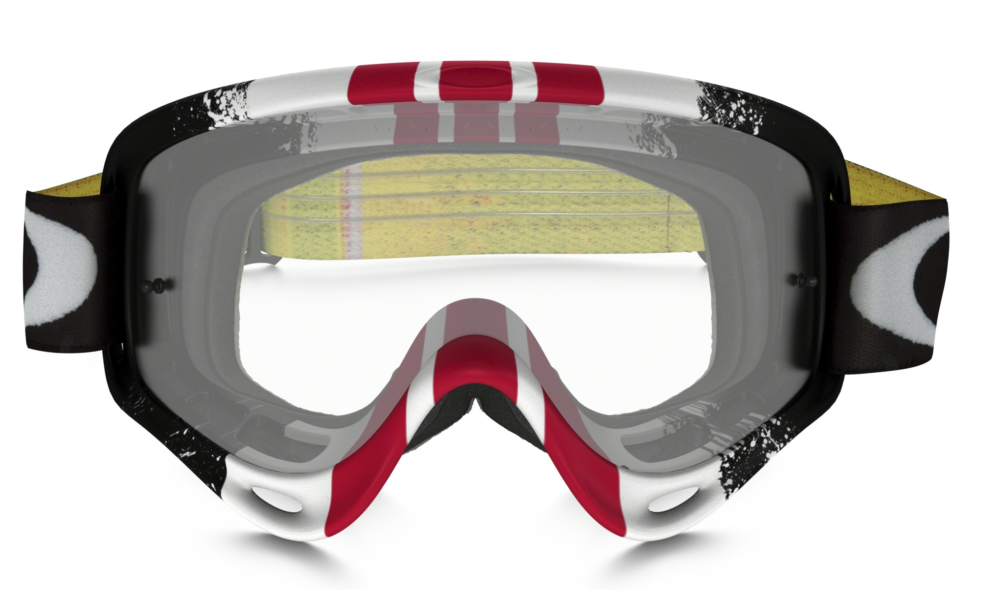 Oakley O Frame Goggle Pinned Race Red/Yellow - Clear Lens