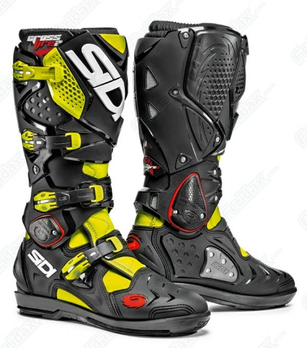 2016 Sidi Crossfire 2 SRS Boot Yellow Fluo/Black