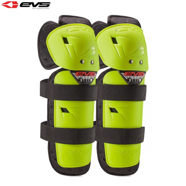 2016 EVS Option Knee Guards Youth Hi Viz