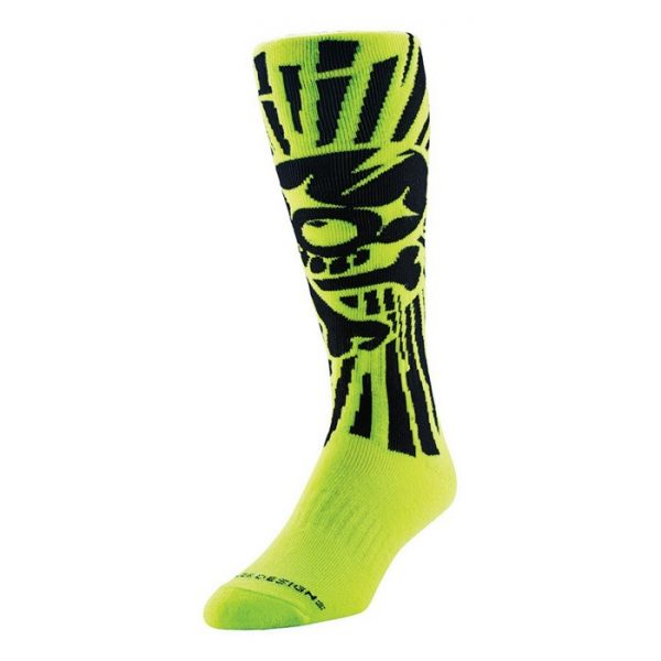 Troy Lee YOUTH GP Skully Socks Yellow