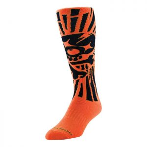 Troy Lee GP Skully Socks Orange
