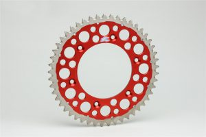 Renthal Twinring Red Rear Sprocket Honda CRF250/450 CR125/250/500
